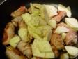 maiale con speck e mele alla senape