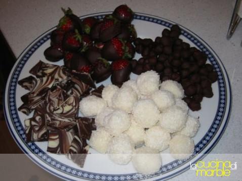 fragole con il cioccolato