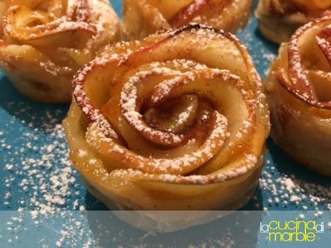 roselline di mela e sfoglia