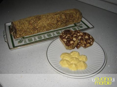 salame di cioccolata alla nutella